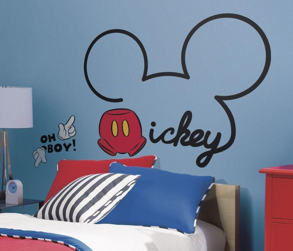 New Giant All Mickey Mouse Wall Decals Disney Room