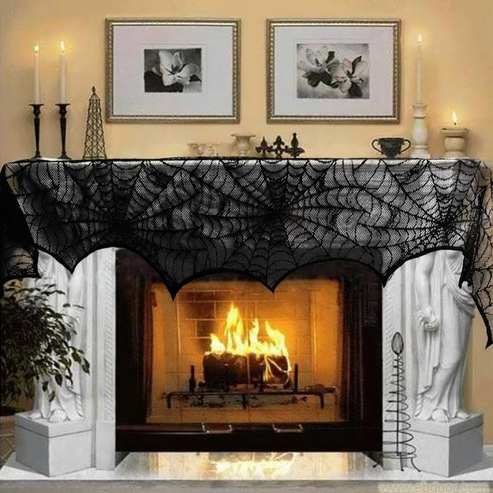 New Hot Halloween Party Decoration Black Lace Spiderweb