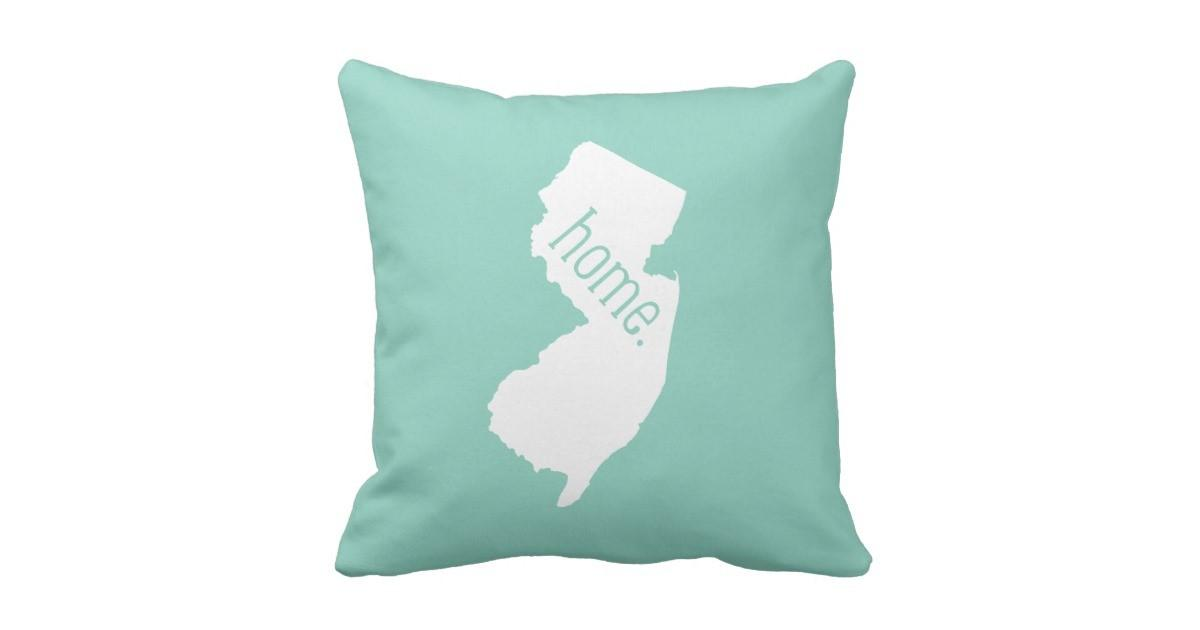 New Jersey Home State Throw Pillow Zazzle