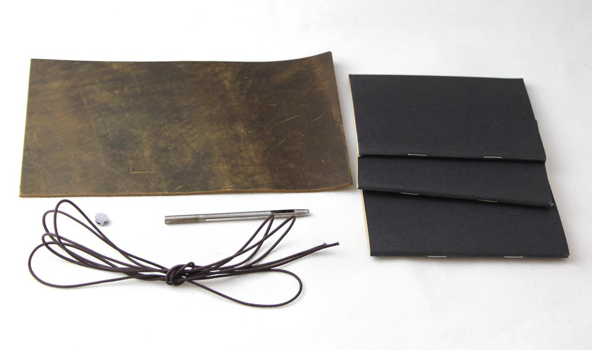 New Junetree Travelers Journal Refillable Genuine Leather