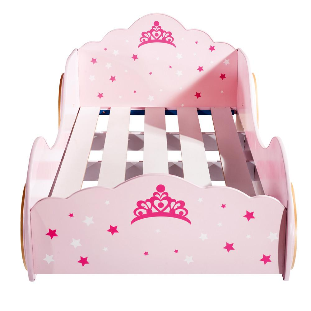 New Kids Girls Beds Car Princess Castle Carriage