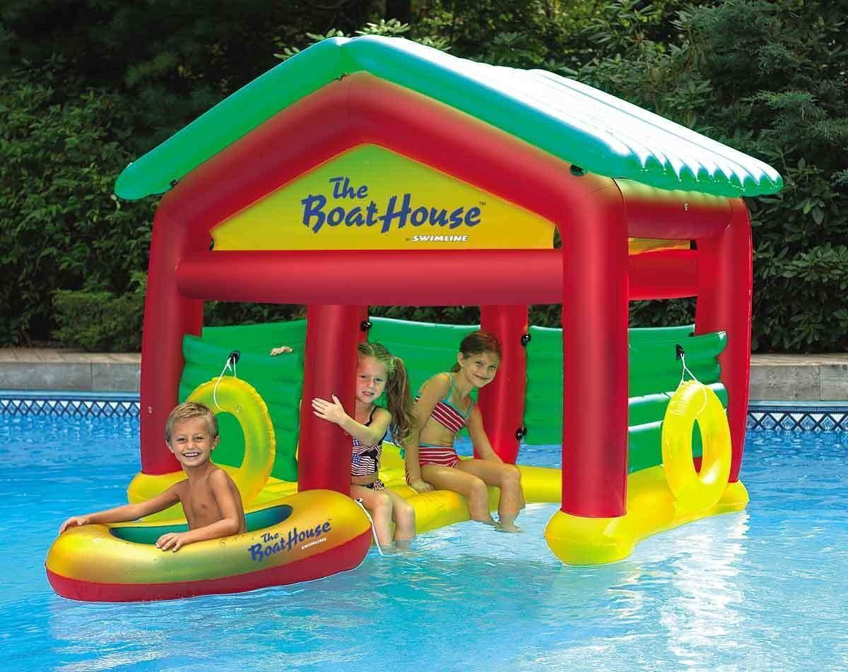New Kids Inflatable Pool Boat House Swimming Float