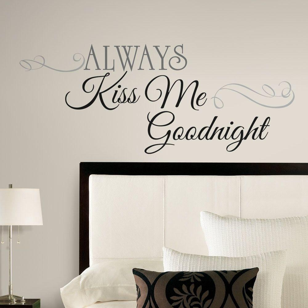 New Large Always Kiss Goodnight Wall Decals Bedroom