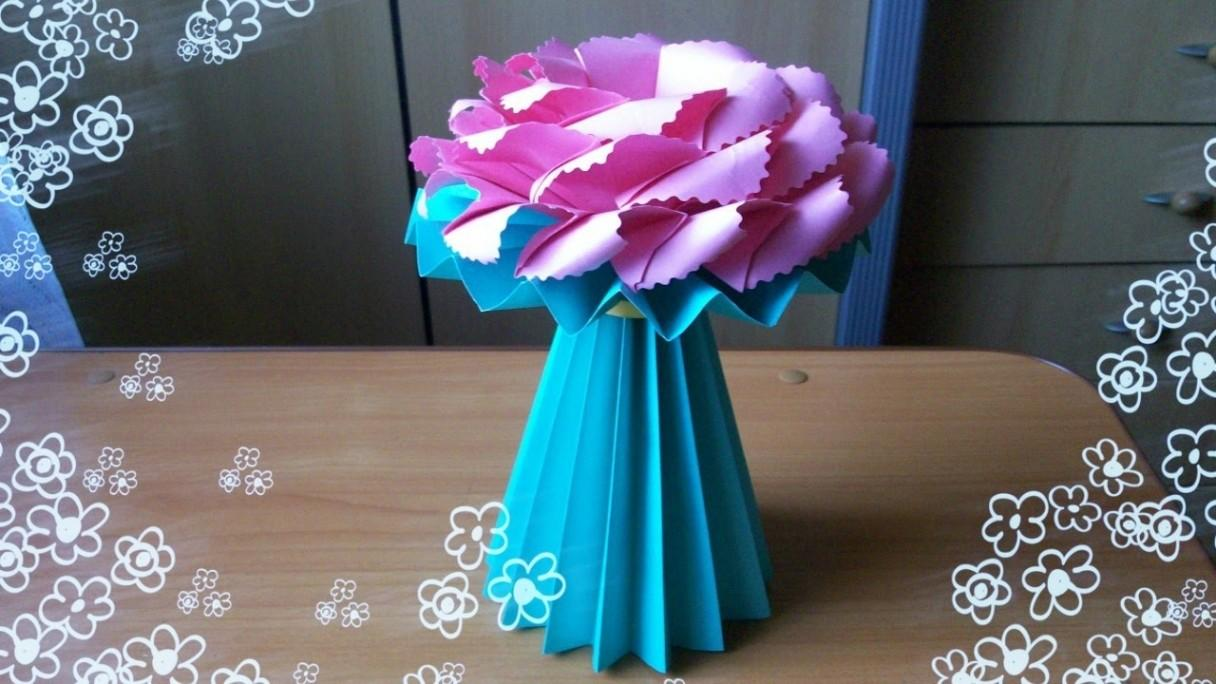 New Make Origami Paper Flower Vase