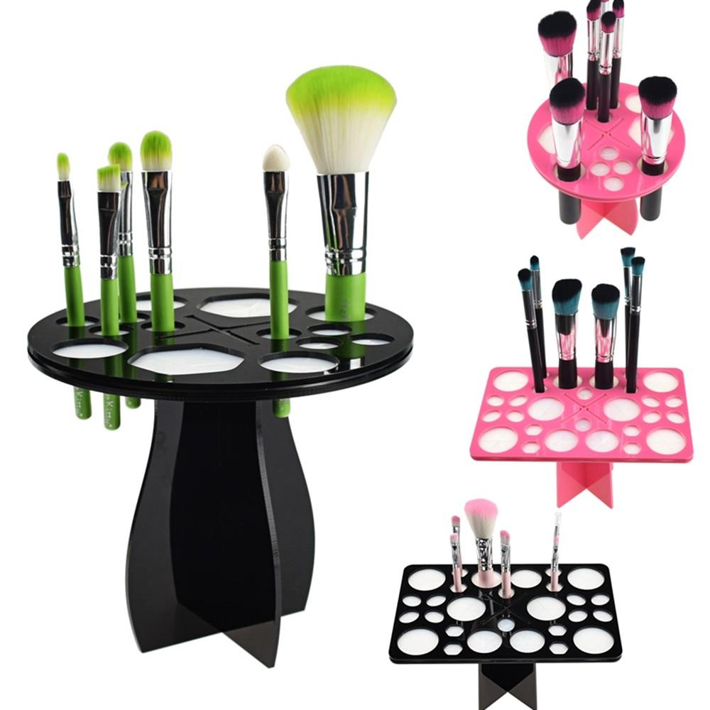 New Makeup Brushes Holder Stand Collapsible Air Drying