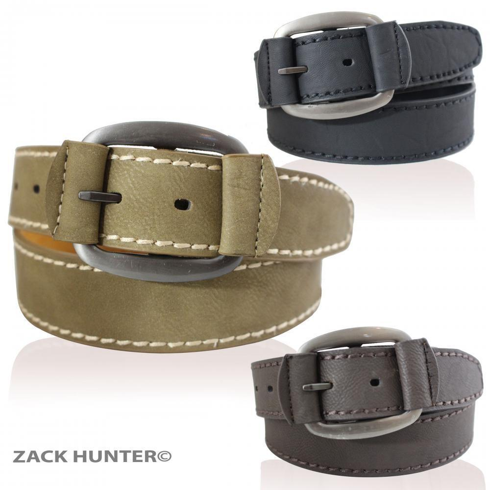 New Mens Real Leather Belts Wide Belt Stylish