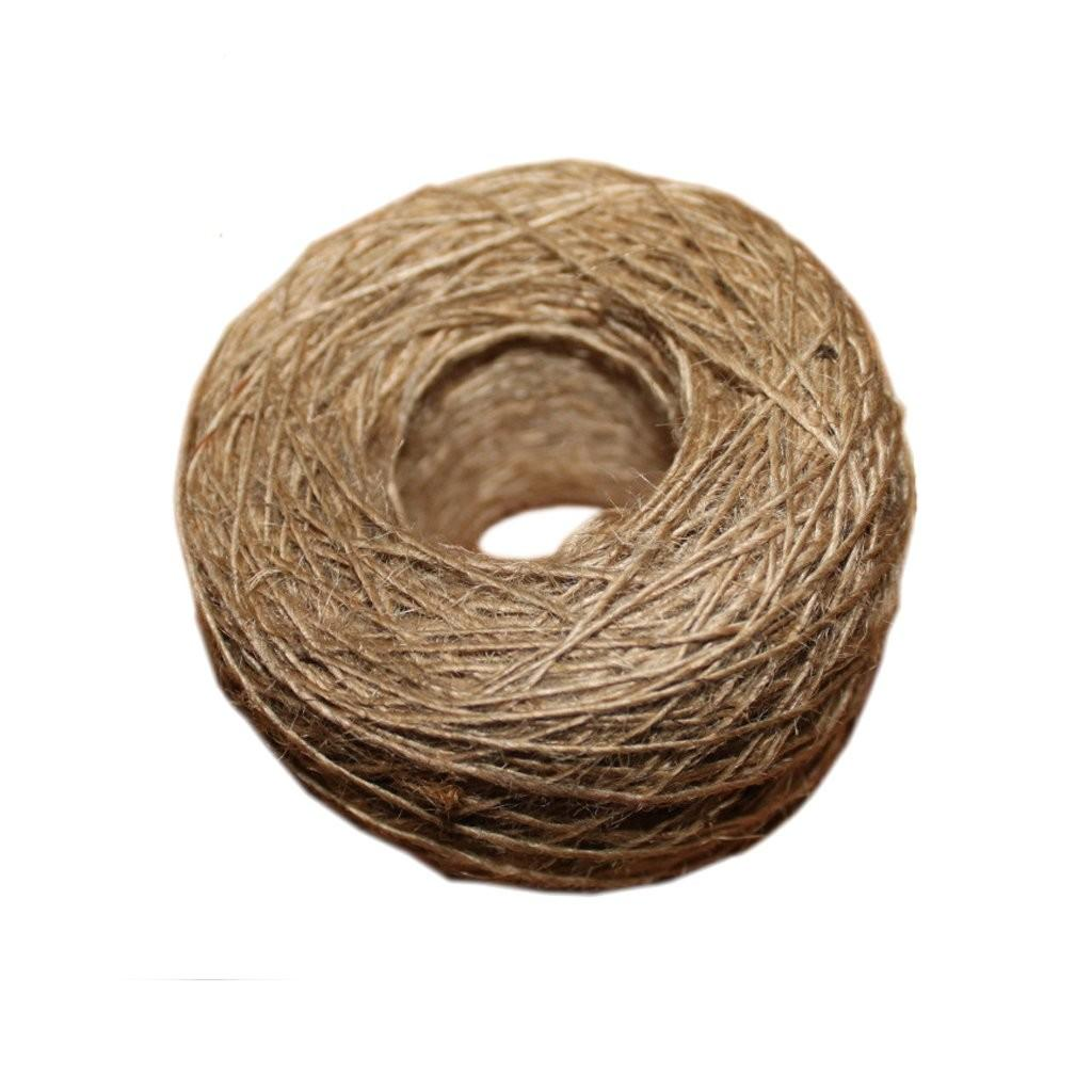 New Natural Jute Rope 1mm Soft 100m Textured