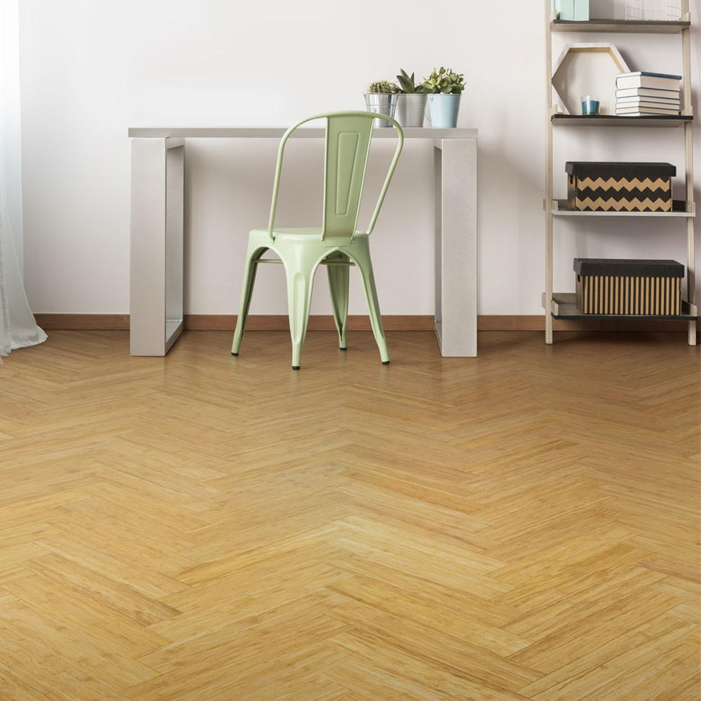 New Natural Strand Woven Parquet Block Bamboo Flooring