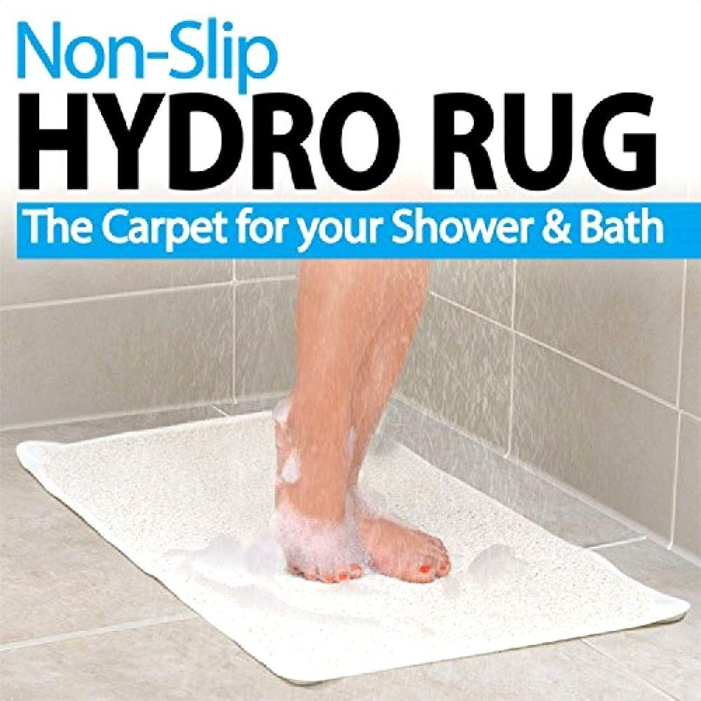 New Non Slip Hydro Rug Shower Bath Tub Mat Clean Carpet