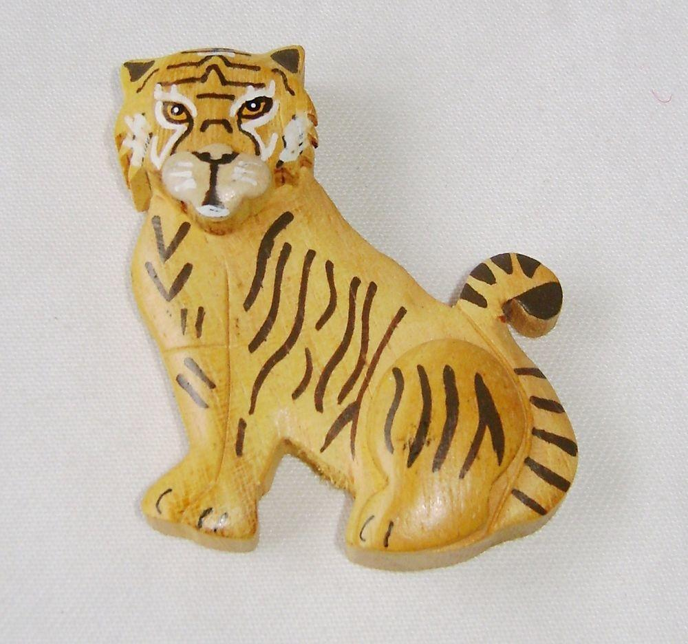New Quality Wooden Hand Crafted Wood Fridge Magnet Tiger