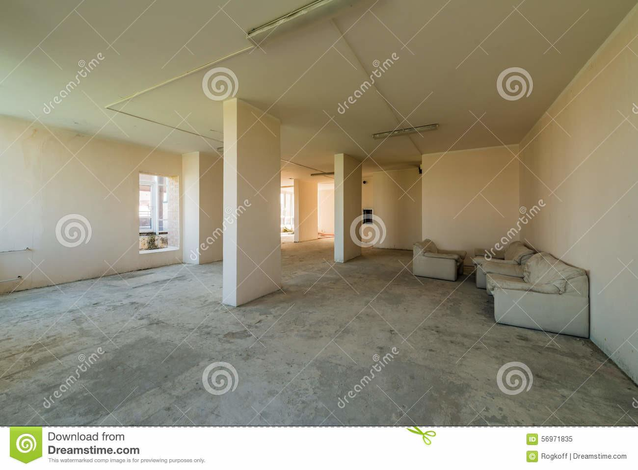 New Residential Apartment Without Finishing Modern Home