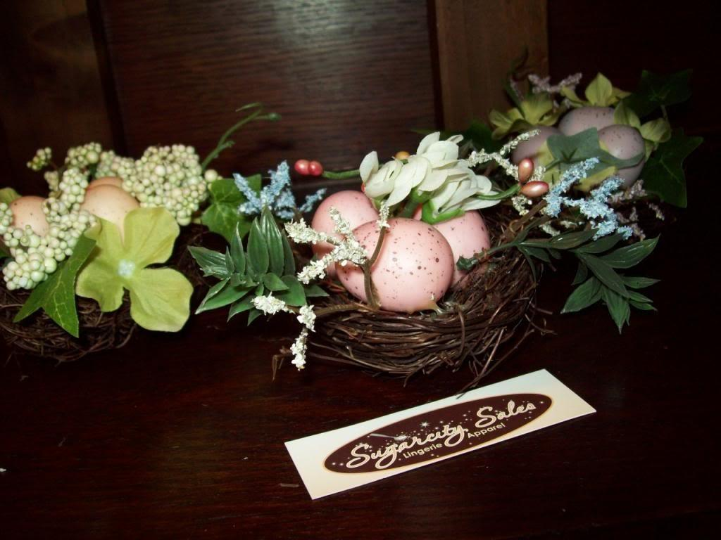 New Set Small Bird Nests Easter Spring Table Decorations