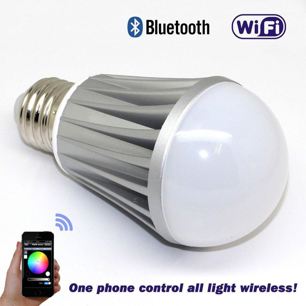 New Smart Wireless Bluetooth Wifi Led Colored Light Bulb