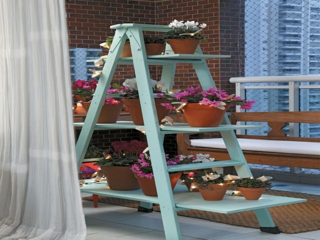 New Style Bedroom Furniture Diy Ladder Plant Stand Shelf