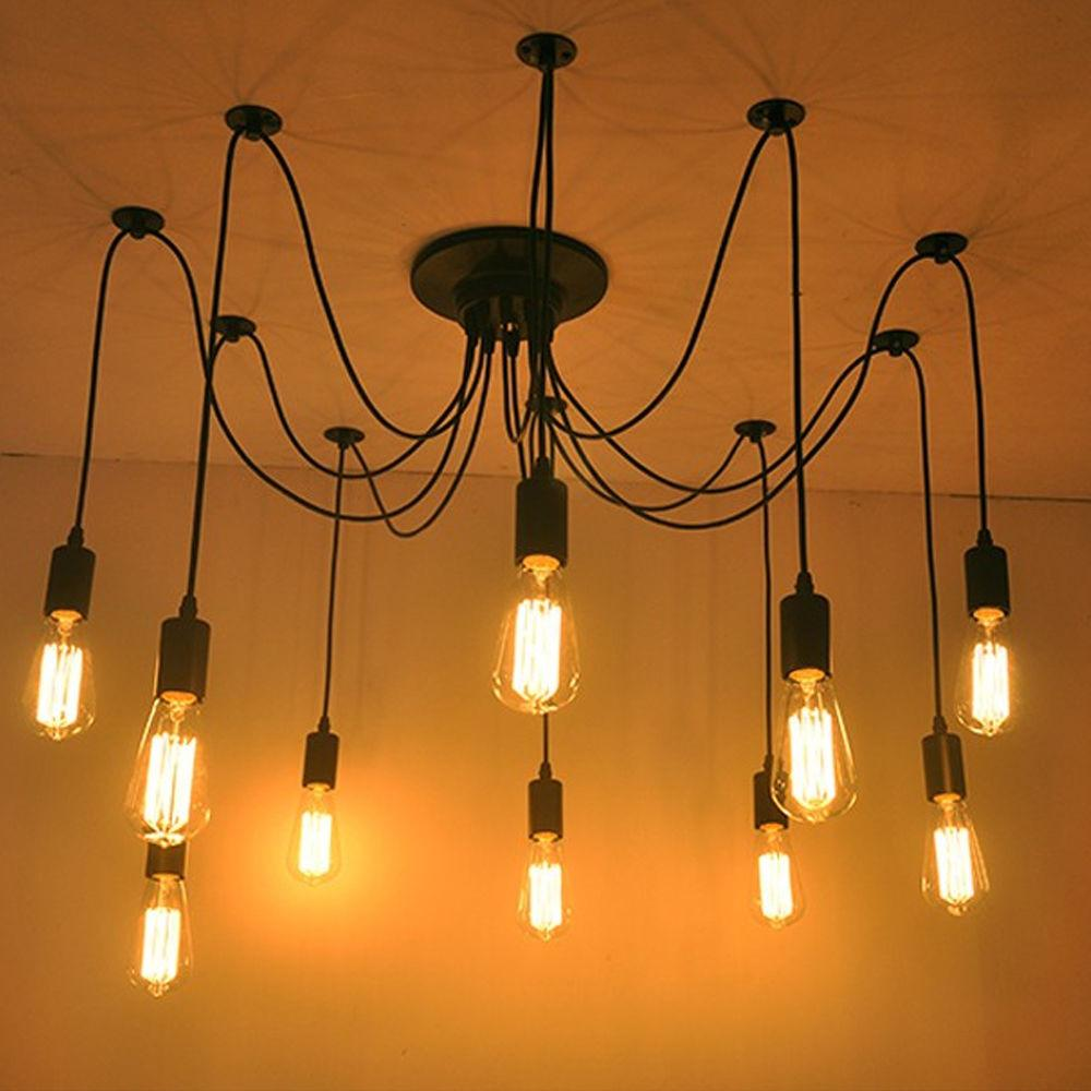 New Vintage Industrial Diy Ceiling Lamp Edison Light