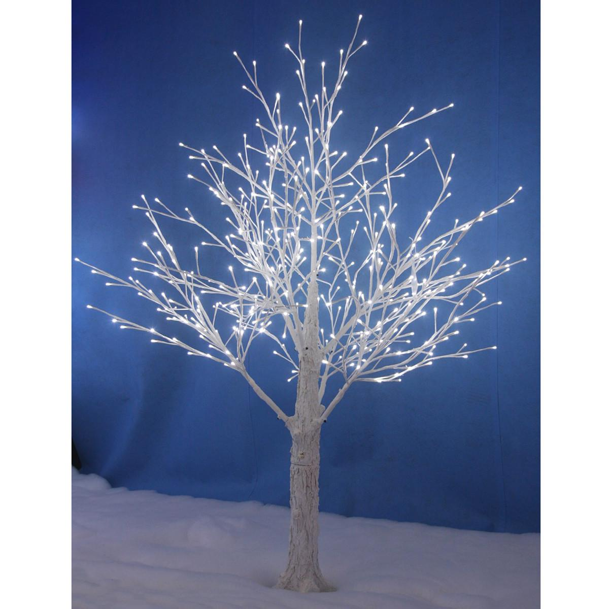 New White Snowy Twig Tree Led Lights Xmas Indoor