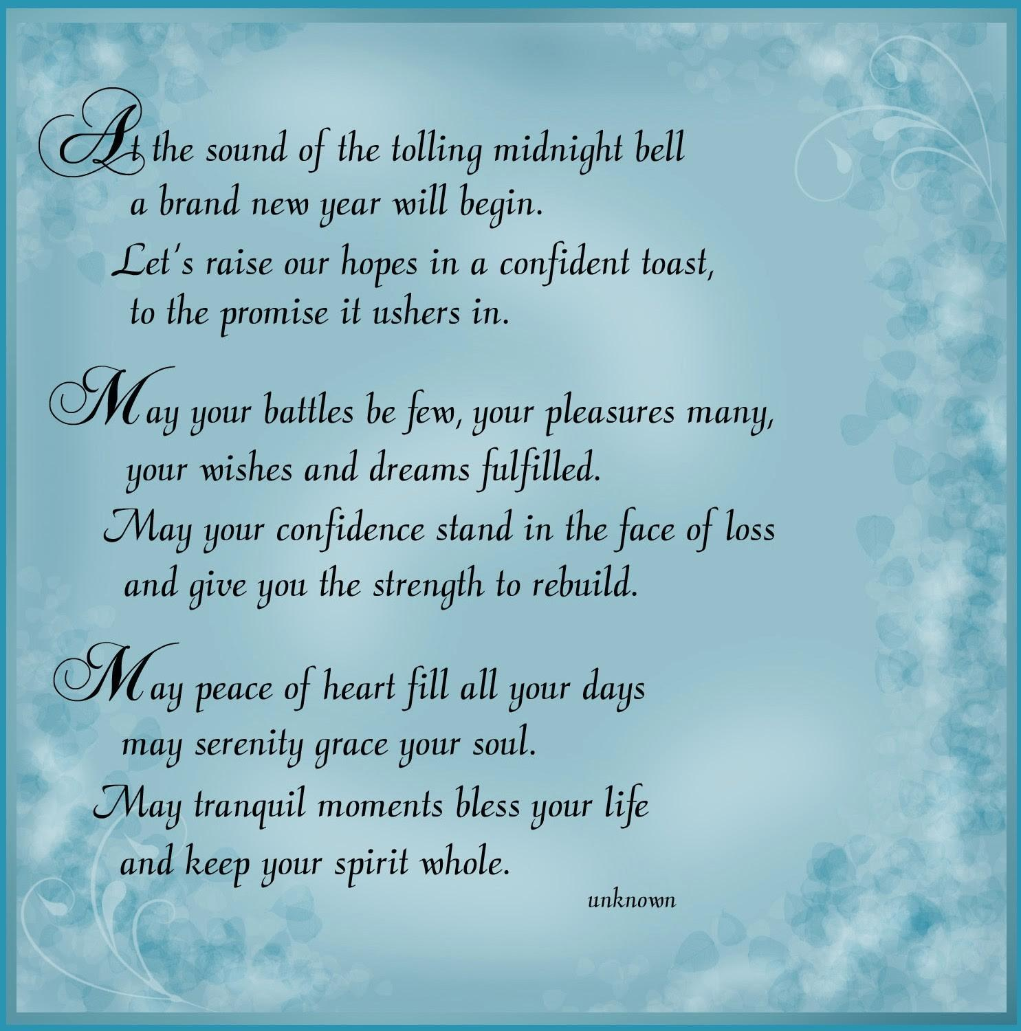New Year 2014 Wishes Poems Poetry Collection Happy