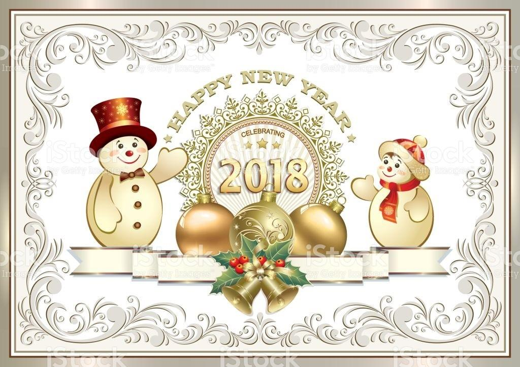New Year 2018christmas Decorations Stock Vector Art