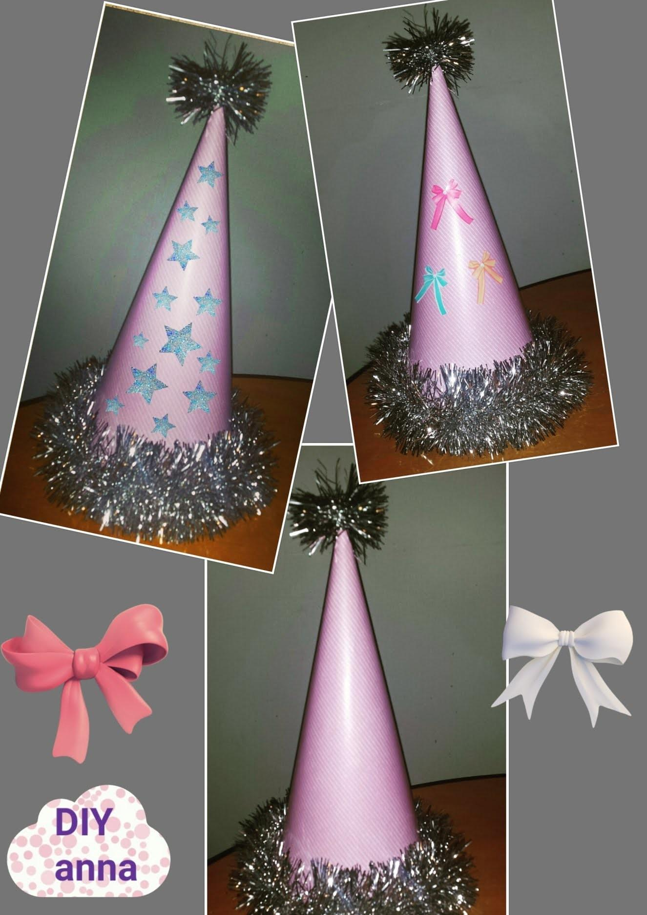 New Year Party Hat Diy Paper Craft Decorations Ideas