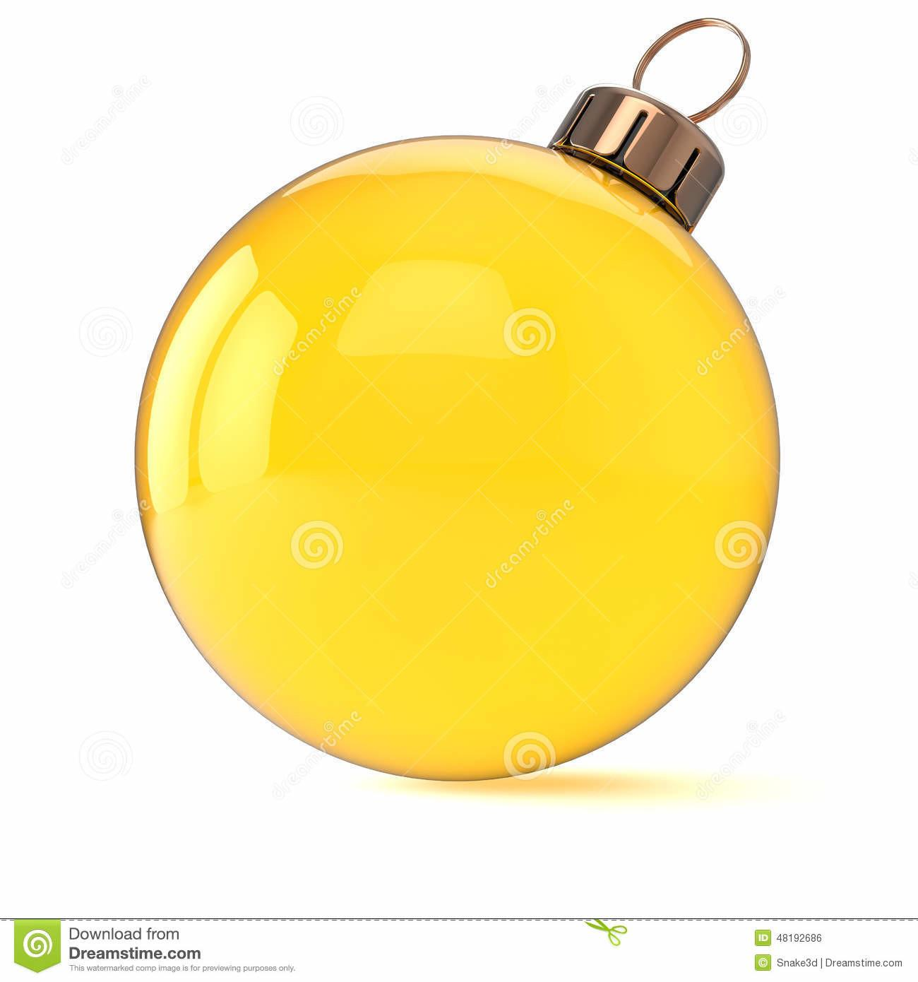 New Years Eve Christmas Ball Ornament Yellow Gold Stock