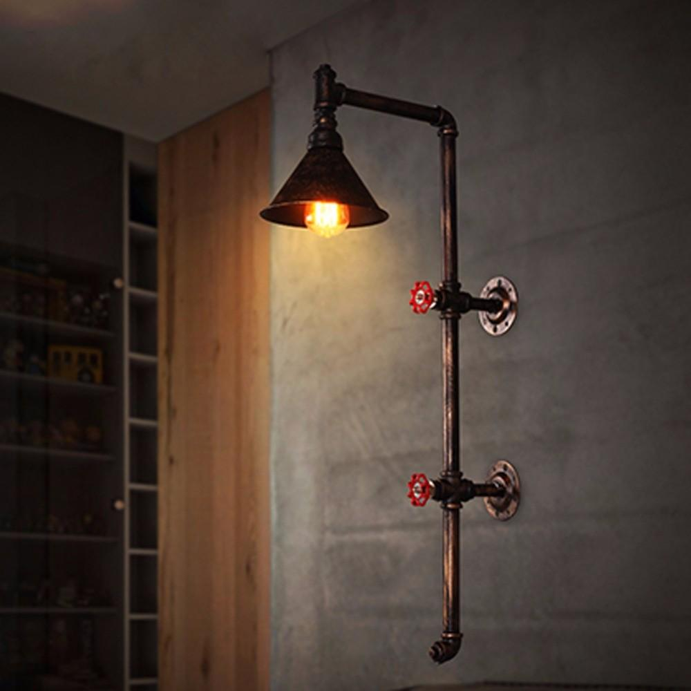 Newest Retro Wrought Iron Wall Sconce Lamps