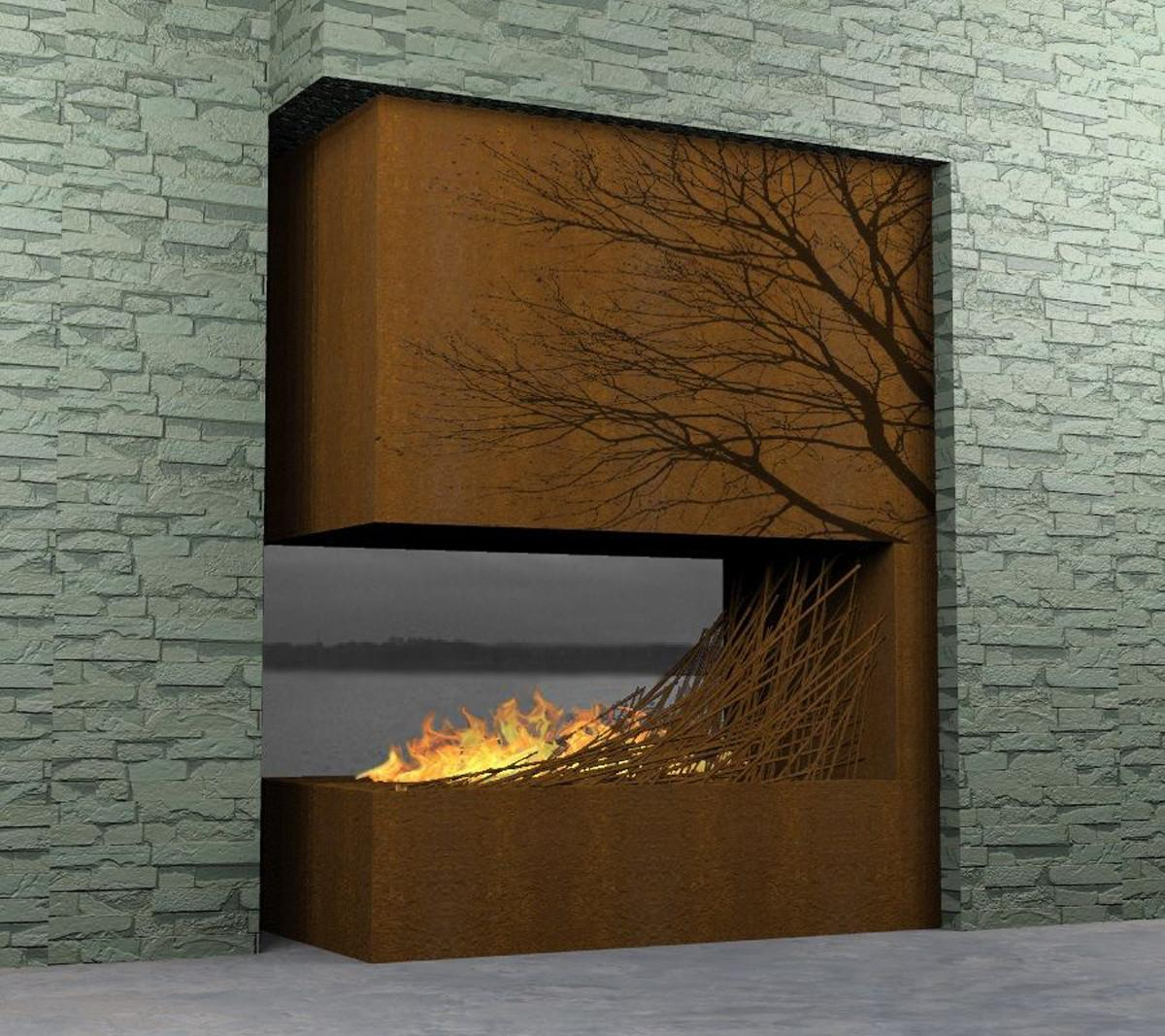 Nice Contemporary Wooden Fireplace Iroonie