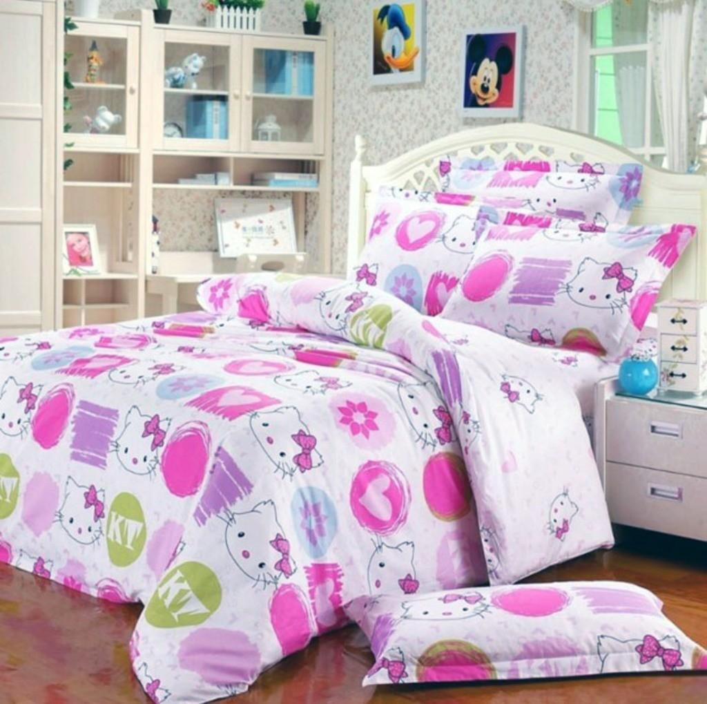Nice Hello Kitty Bed Linen White Furniture Style