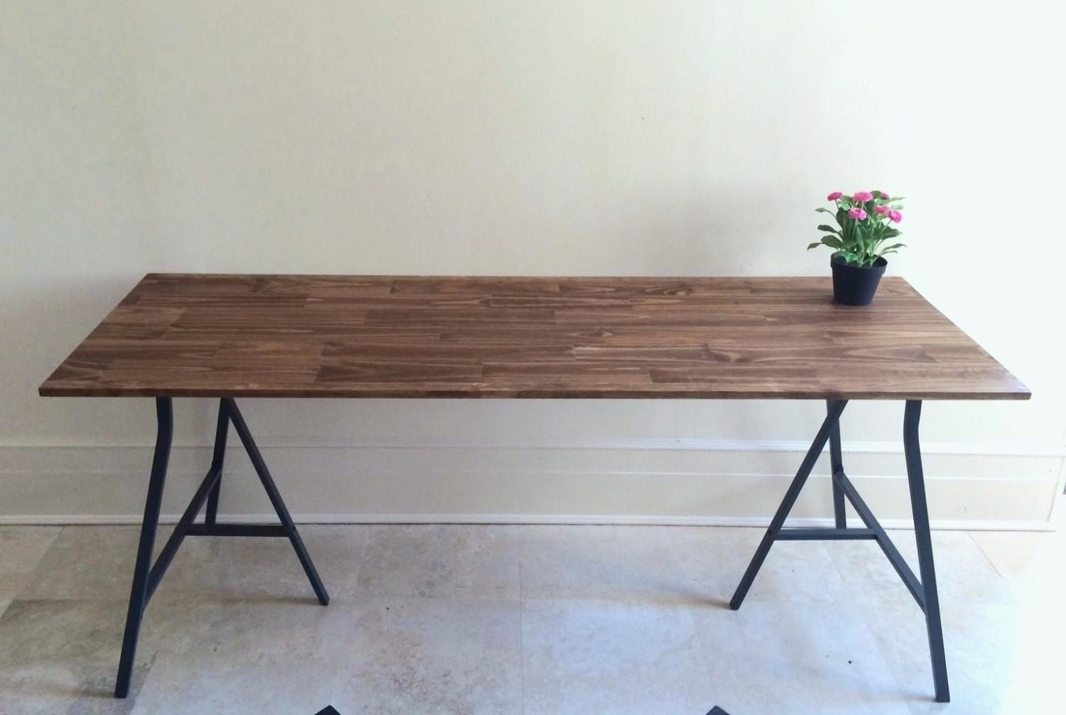 Nice Industrial Long Narrow Tables Potted Plant