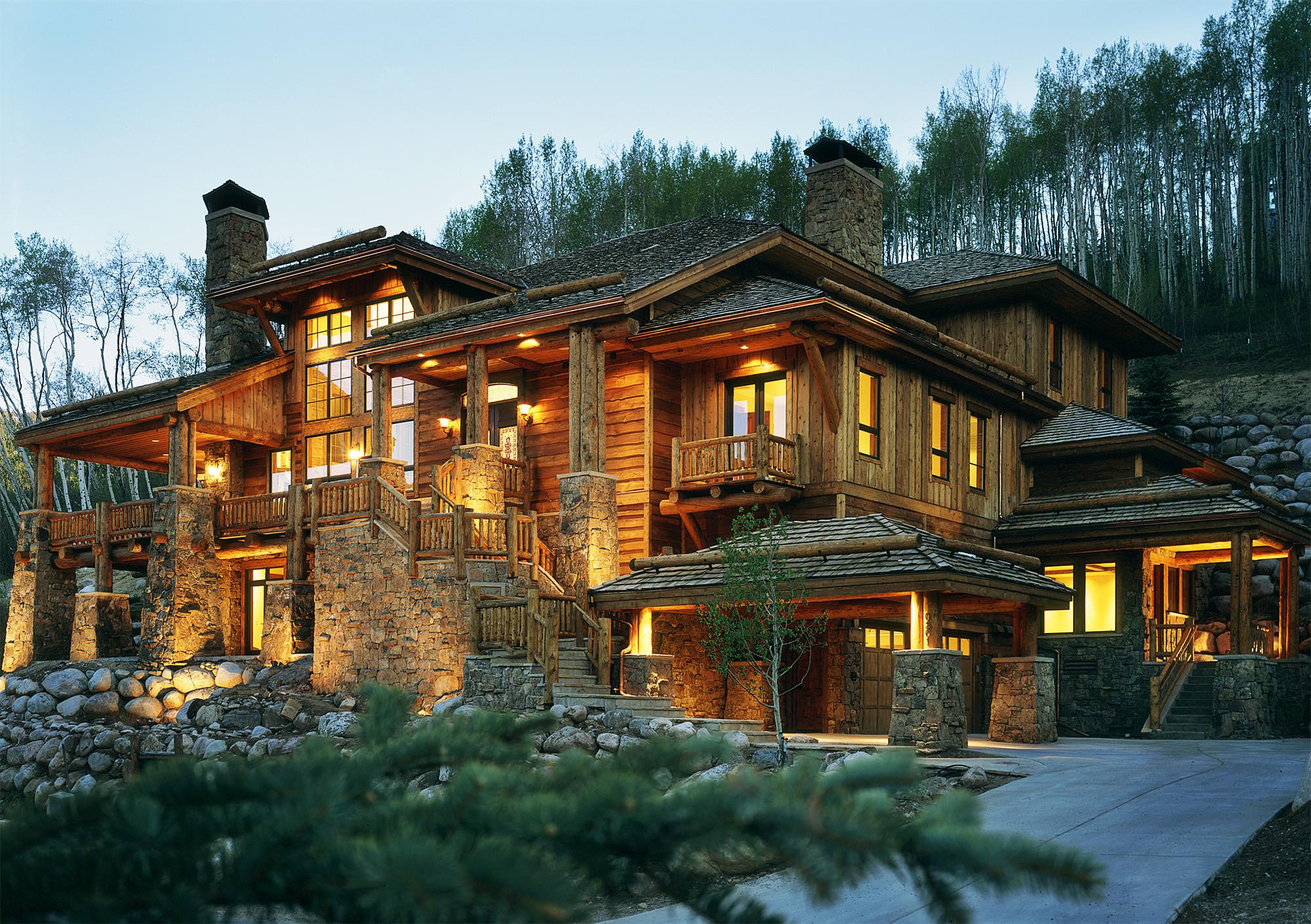 Nice Luxury Wooden Stone Houses Ideas Inspirations