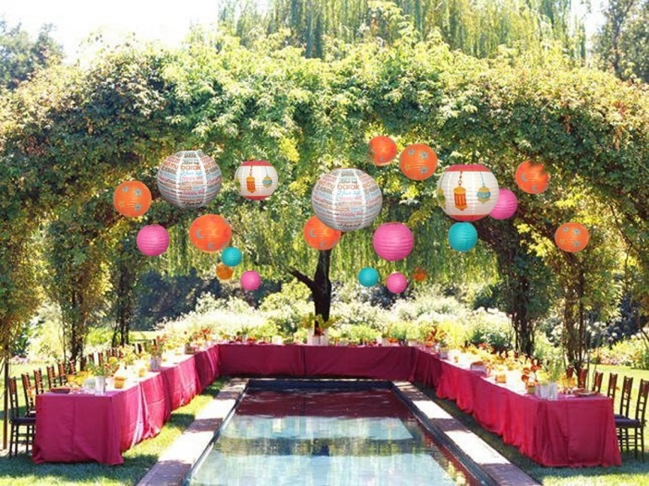 Nice Room Decoration Ideas Back Yard Summer Party