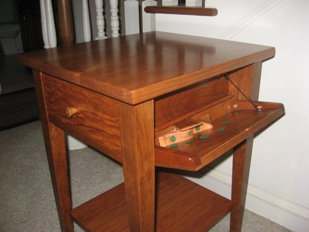 Nightstand Plans Hidden Compartment Security Sistems