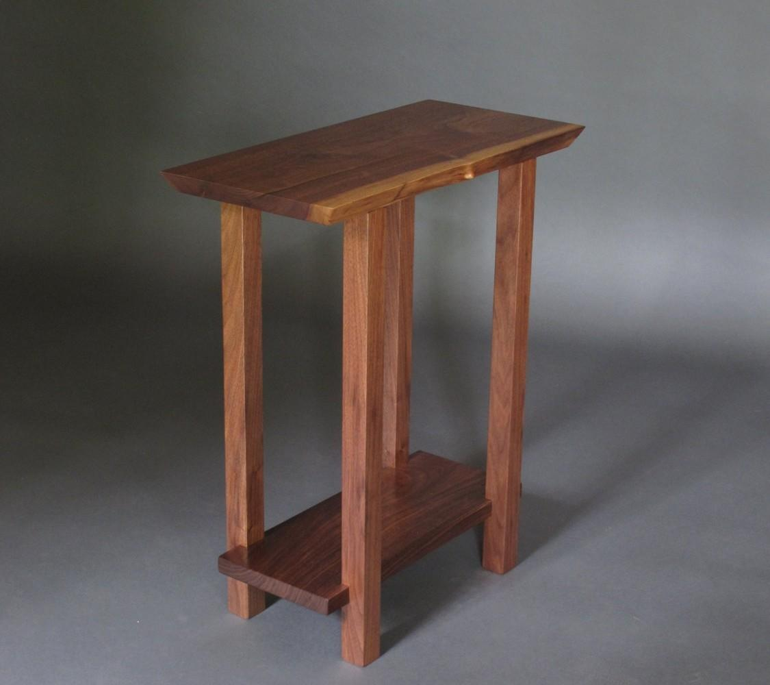 Noble Small Table Low Shelf Narrow End Live Edge