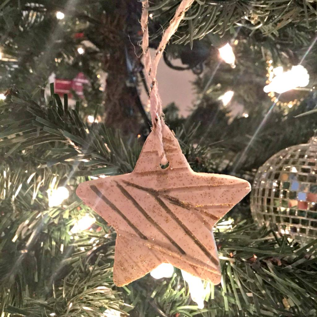 Non Crafty Mom Makes Ornaments Diy Textured Clay Stars