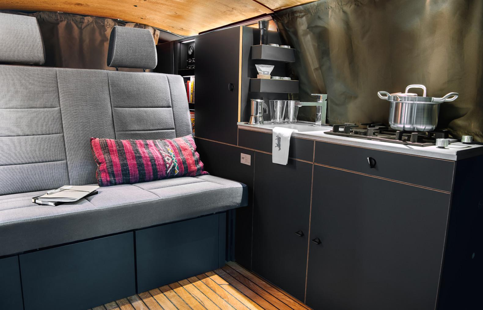 Nondescript Van Hides Gorgeous Chic Mobile Home