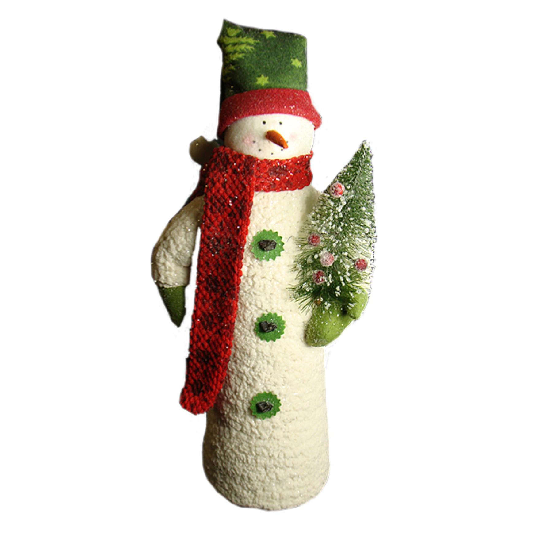 Northlight Fluffy Cone Shaped Snowman Berry