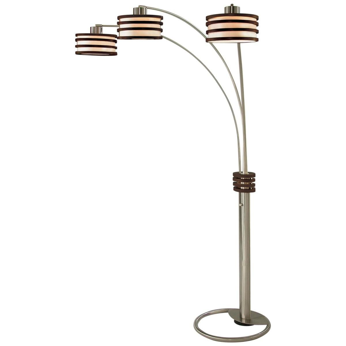 Nova Lighting 4327rd Kobe Triple Shade Arc Floor Lamp