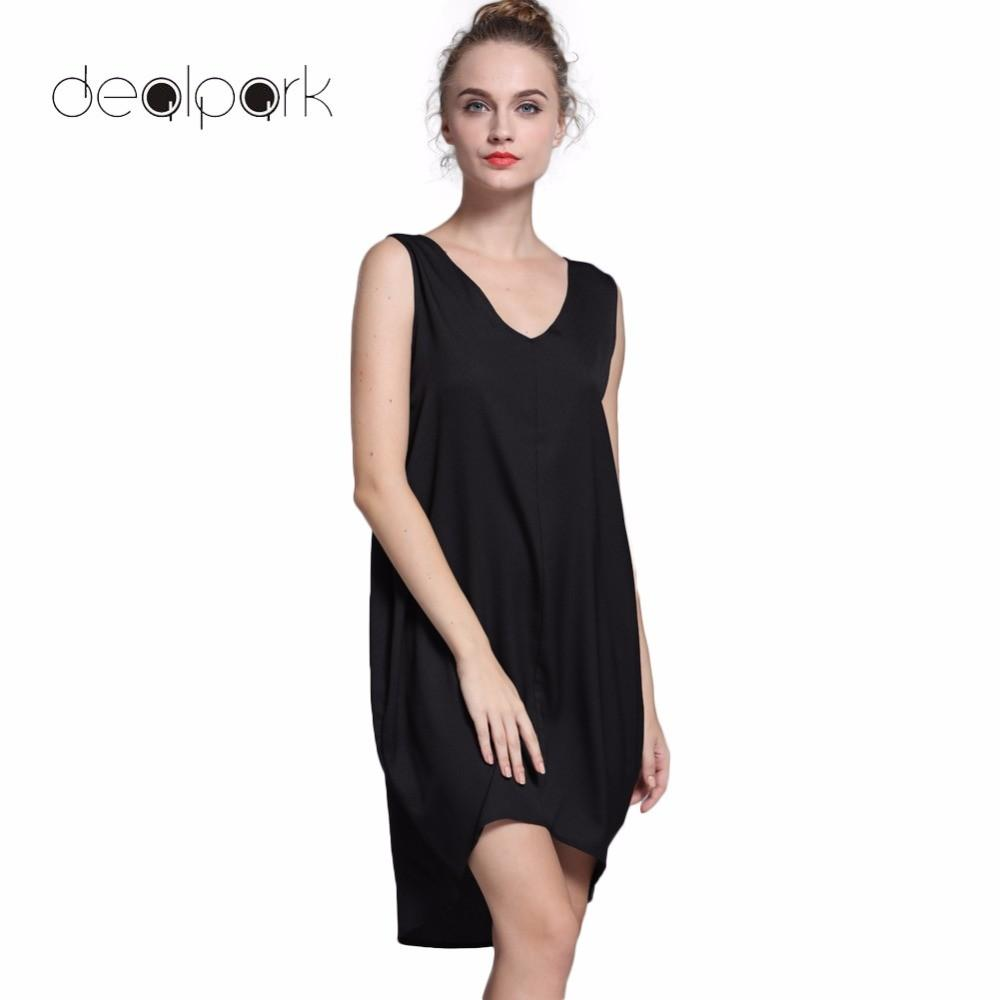 Novelty Fashion Sleeveless Tank Dresses High Low Hem Loose