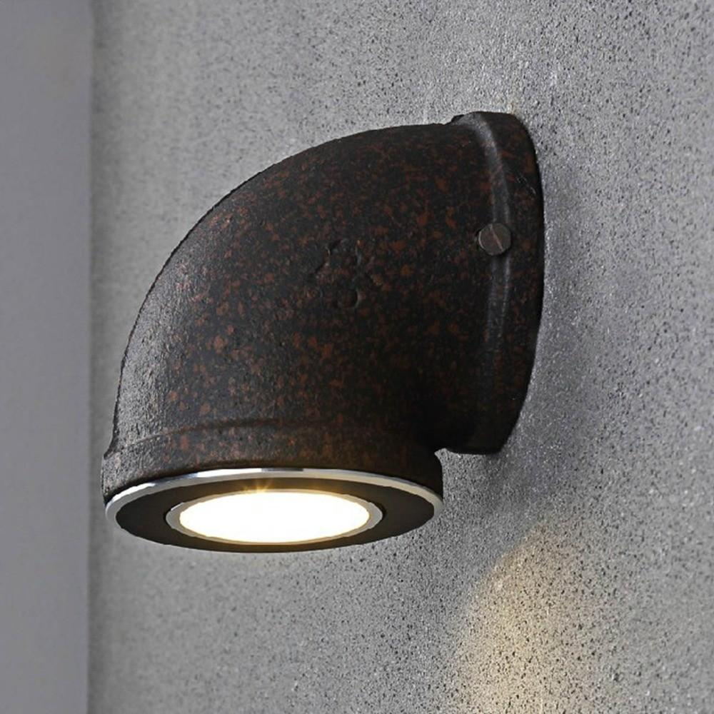 Novelty Industrial Water Pipe Wall Light American Country