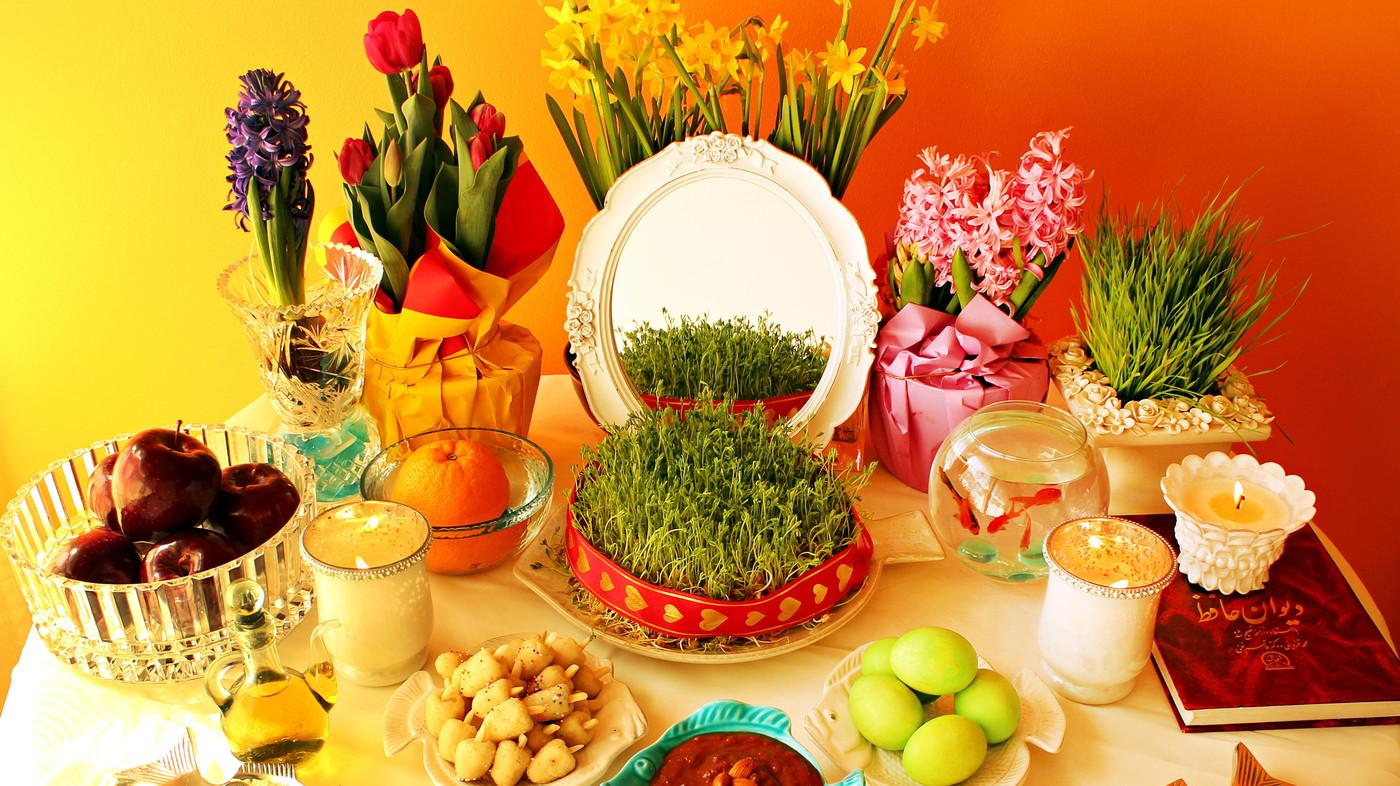 Nowruz Persian New Year Table Celebrates Spring