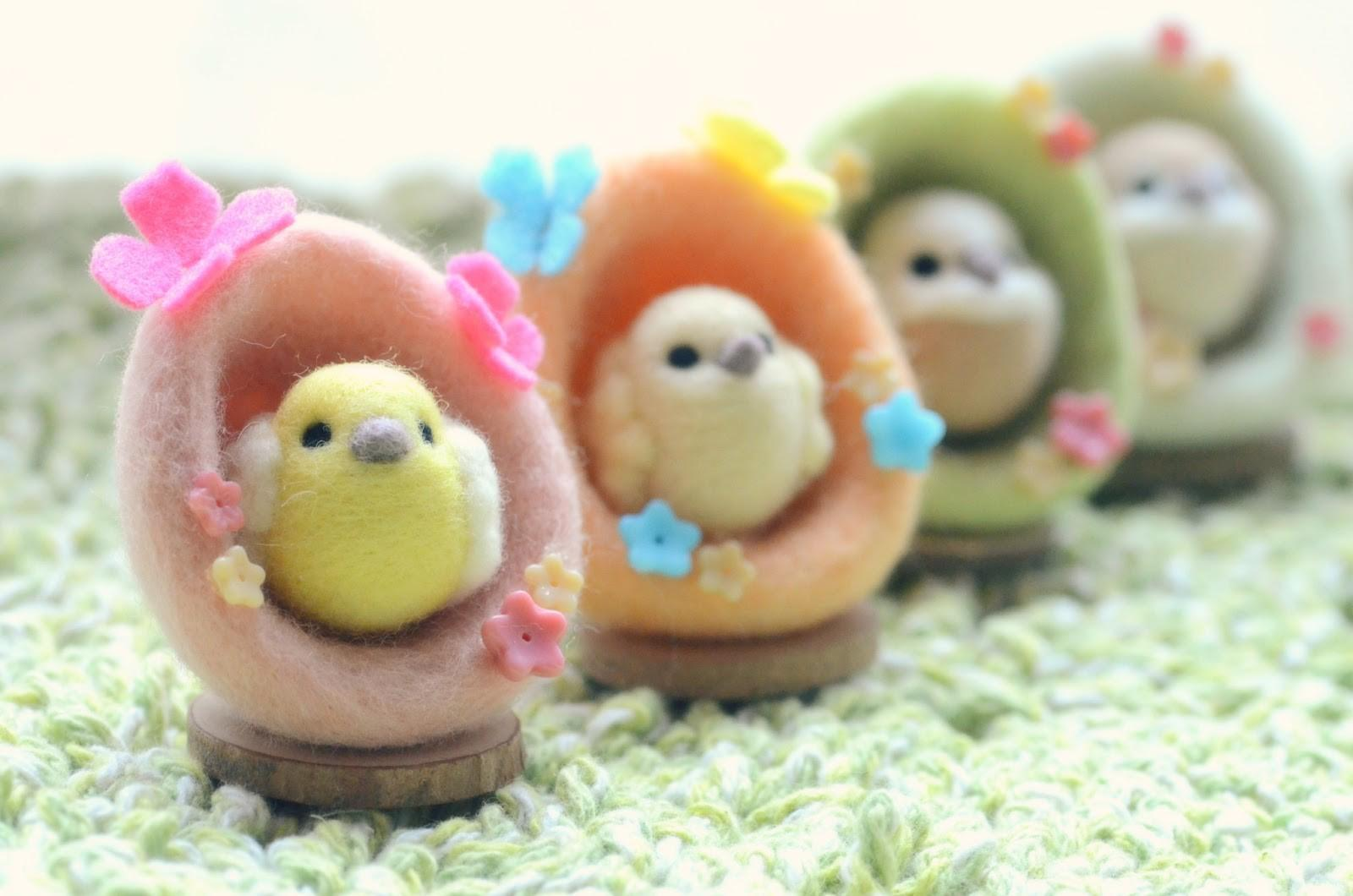 Nozomi Crafts Spring Coming Needle Felted Easter