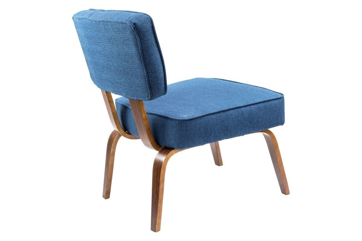 Nunzio Mid Century Modern Accent Chair Navy Blue