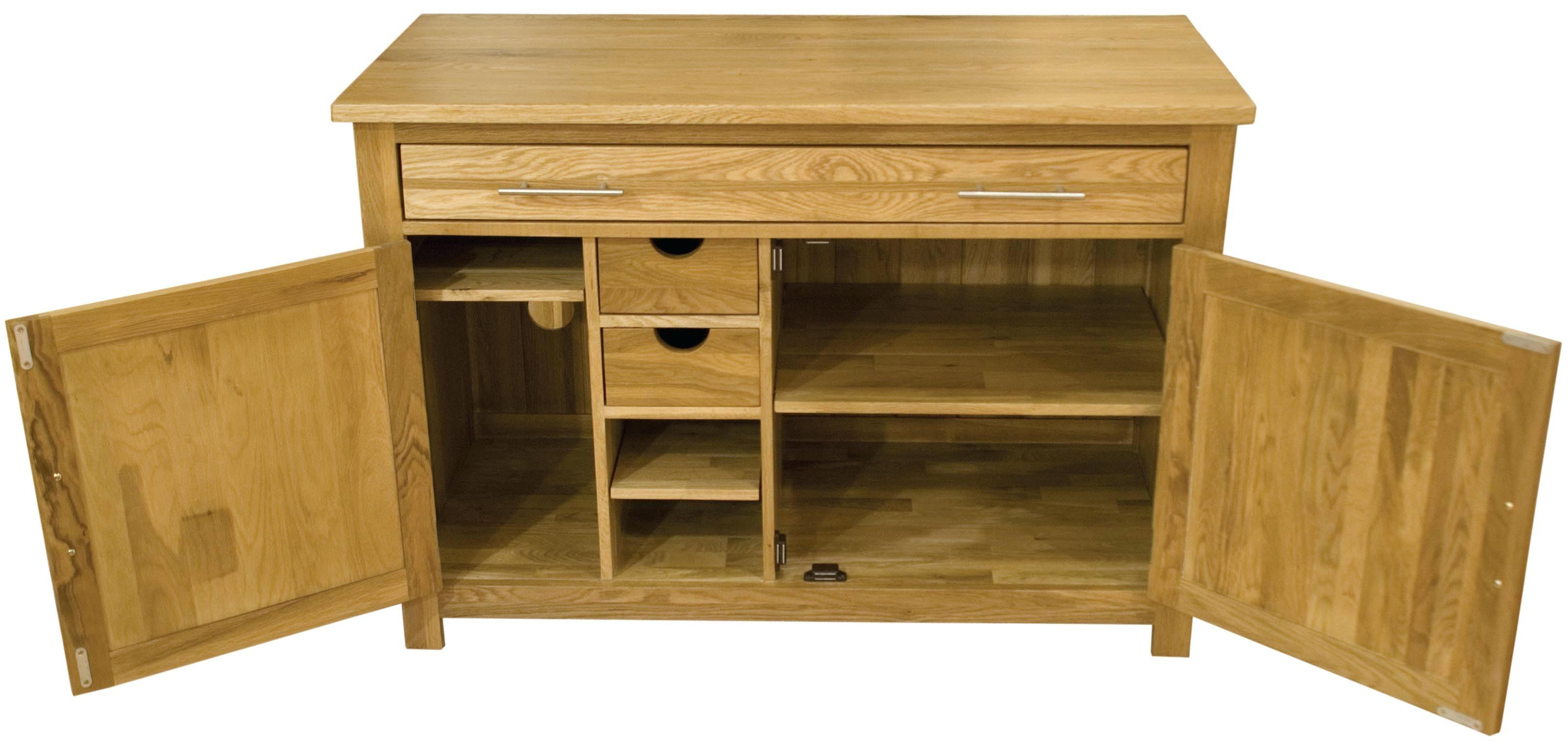 Oak Hideaway Computer Desk Top Interior Furniture