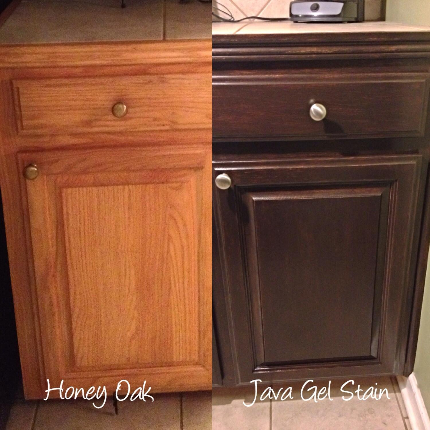 Oak Kitchen Cabinets Painted Before After Home Photos