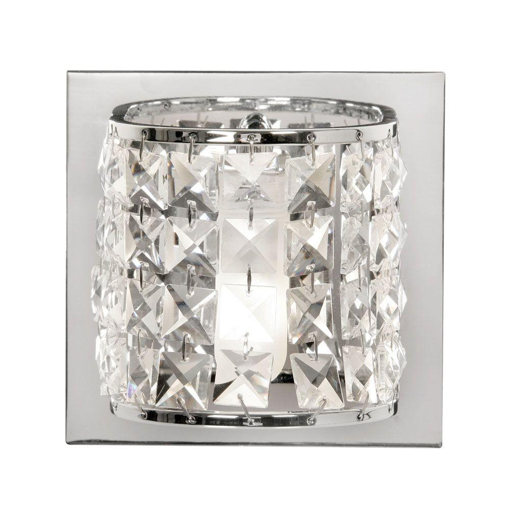 Oaks Glamour Crystal Bathroom Wall Light 1696