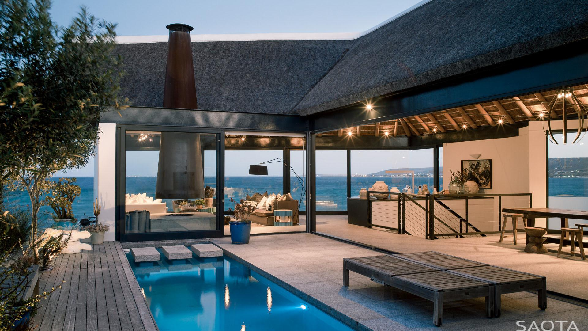 Ocean Contemporary Luxury Home Thatched Roof