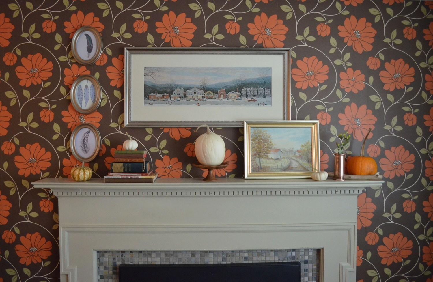 October Decorating Ideas Mary Fall Fireplace