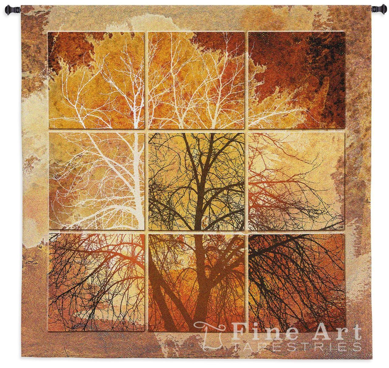 October Light Contemporary Tapestry Wall Hanging