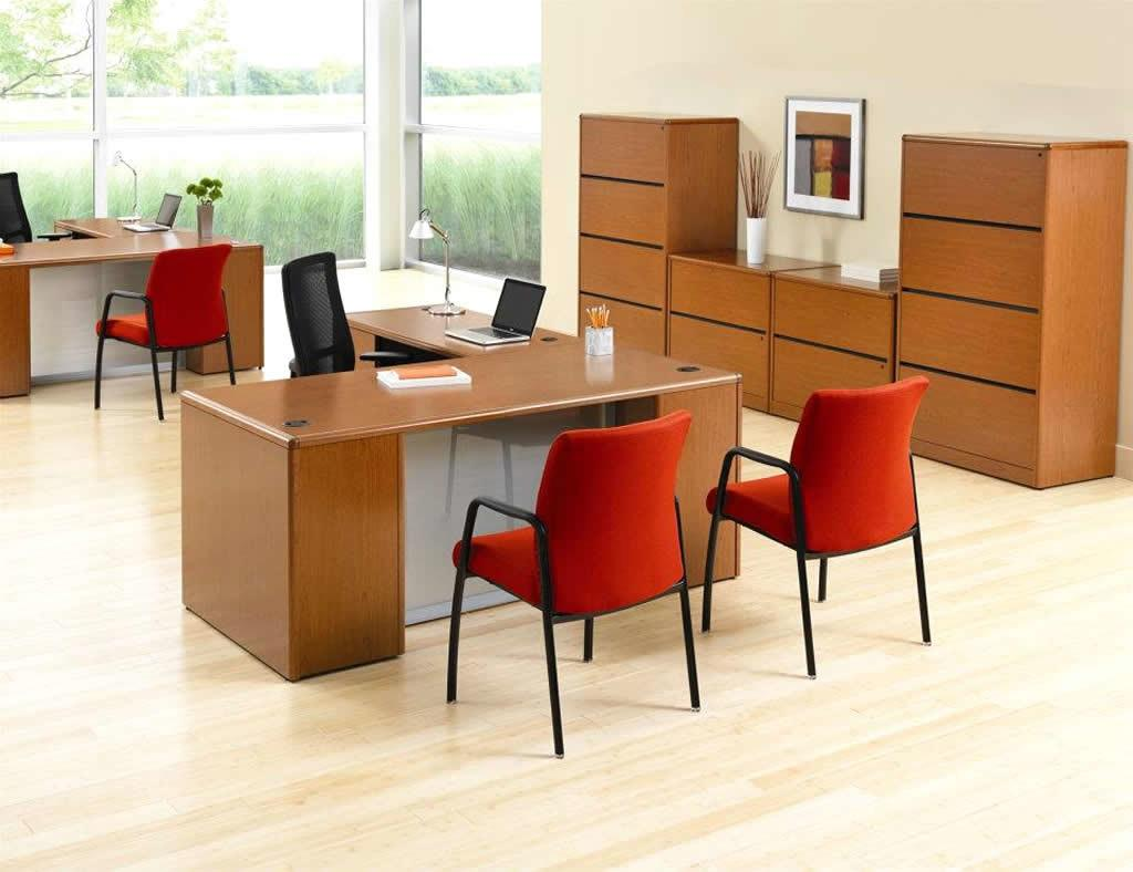 Office Bright Retro Home Design Orange