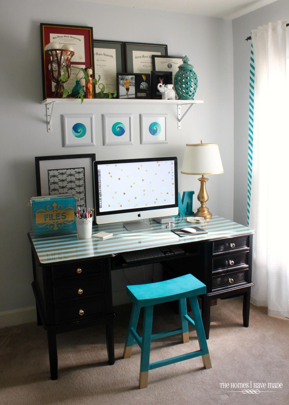 Office Desk Makeover Reveal Homes Have Made