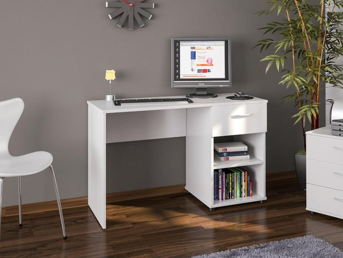 Office Desk White Home Computer Furniture Drawer